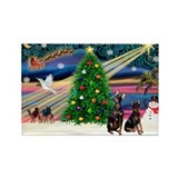 Xmas Magic &amp; Min Pin pr Rectangle Magnet