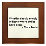 Wrinkles (Mark Twain Quote) Framed Tile