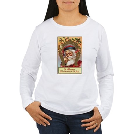 Vintage Santa Women's Long Sleeve T-Shirt