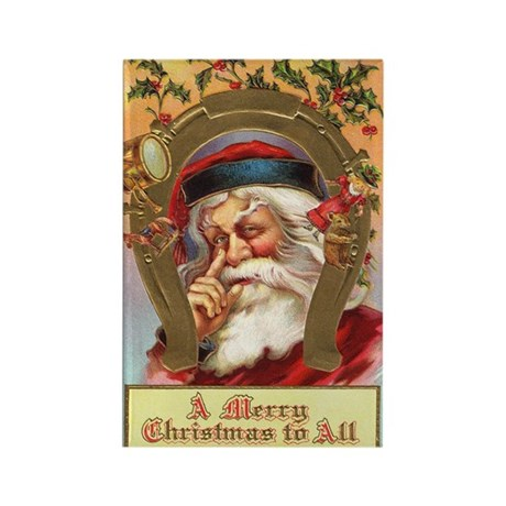 Vintage Santa Rectangle Magnet (100 pack)