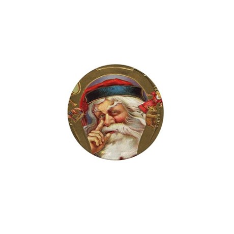 Vintage Santa Mini Button (10 pack)