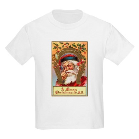 Vintage Santa Kids Light T-Shirt