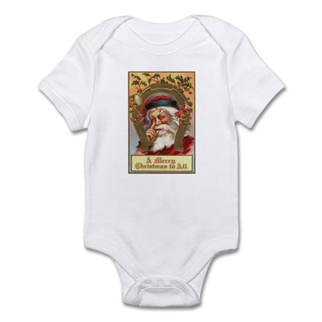 Vintage Santa Infant Bodysuit