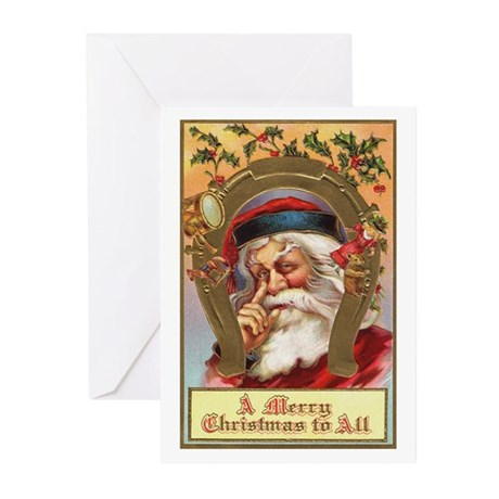 Vintage Santa Greeting Cards (Pk of 10)