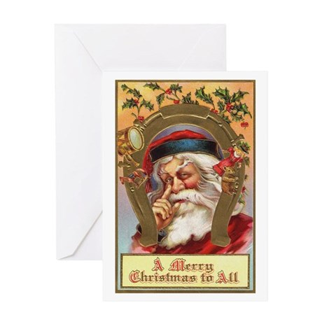 Vintage Santa Greeting Card