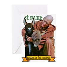 BLESSING OF THE ANIMALS Greeting Cards (Package of