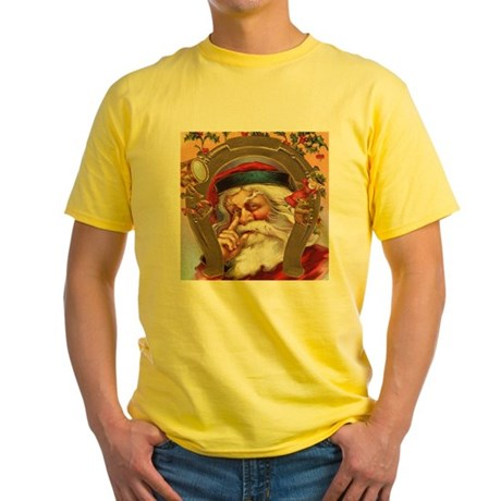 Vintage Santa Yellow T-Shirt
