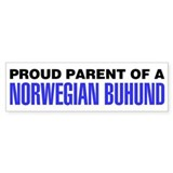 Proud Parent of a Norwegian Buhund Car Sticker