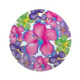 Tropical Flowers Ornament (Round)