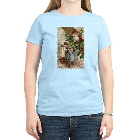 Vintage Christmas Card Women's Light T-Shirt