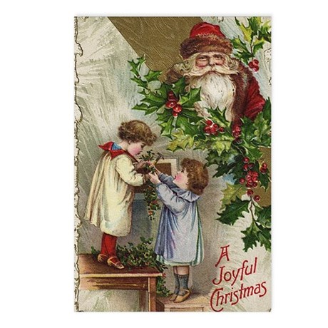Vintage Christmas Card Postcards (Package of 8)