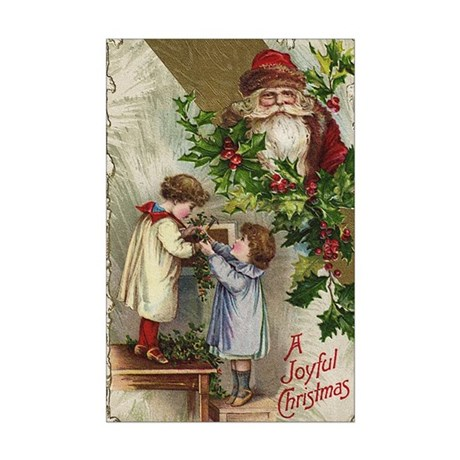 Vintage Christmas Card Mini Poster Print