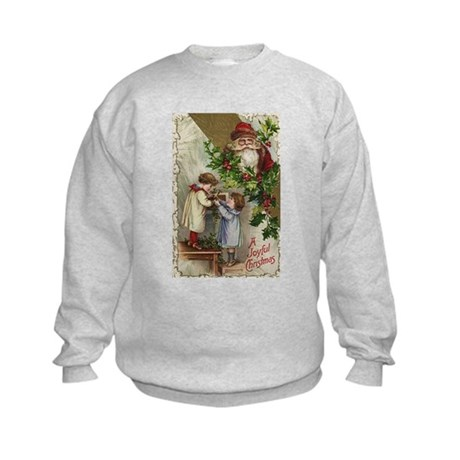Vintage Christmas Card Kids Sweatshirt