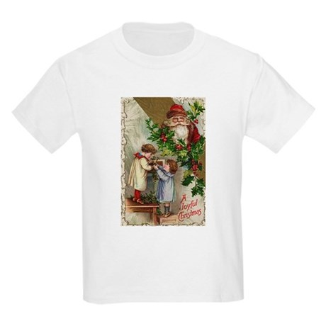 Vintage Christmas Card Kids Light T-Shirt