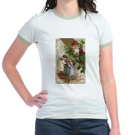 Vintage Christmas Card Jr. Ringer T-Shirt