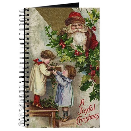 Vintage Christmas Card Journal