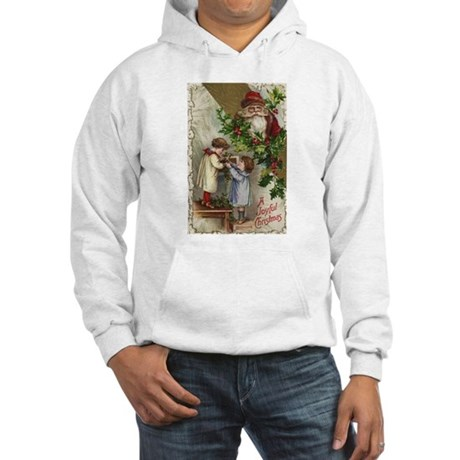 Vintage Christmas Card Hooded Sweatshirt