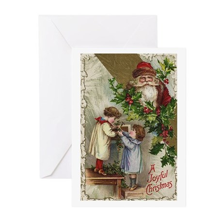 Vintage Christmas Card Greeting Cards (Pk of 10)
