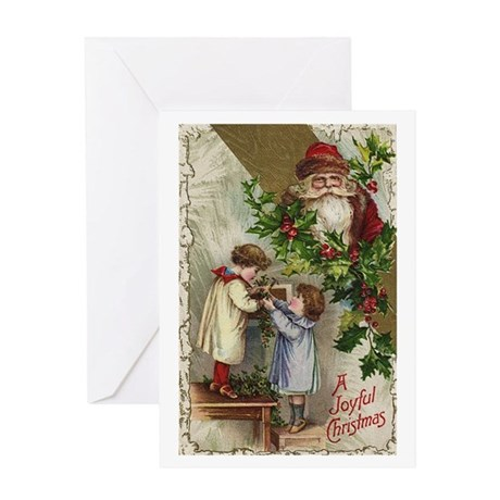 Vintage Christmas Card Greeting Card