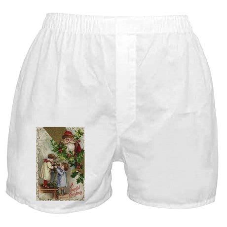 Vintage Christmas Card Boxer Shorts
