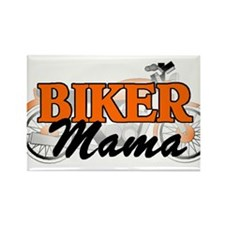 BIKER MAMA Rectangle Magnet