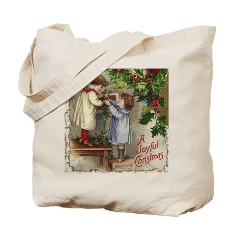 Vintage Christmas Card Tote Bag