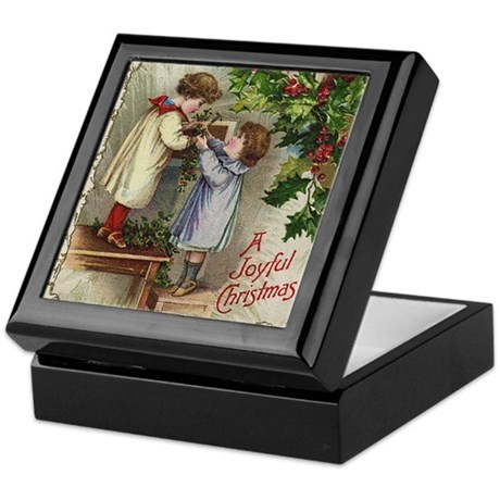 Vintage Christmas Card Keepsake Box