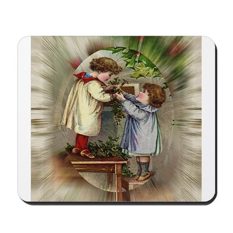 Vintage Christmas Card Mousepad