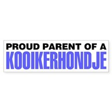 Proud Parent of a Kooikerhondje Bumper Sticker
