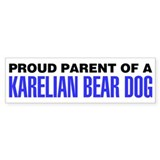 Proud Parent of a Karelian Bear Dog Car Sticker