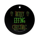 effing xmas Ornament (Round)