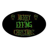 effing xmas Oval Decal