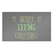 effing xmas Rectangle Decal