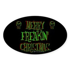 freakin xmas Oval Decal