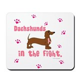 Dachshunds In The Fight (BC) Mousepad