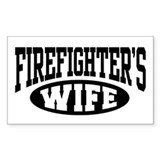 Firefighter's Wife Rectangle  Aufkleber