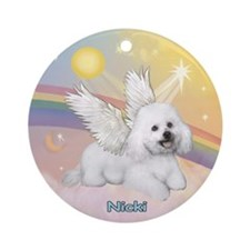 Angel Nicki in Clouds (#2) Ornament (Round)