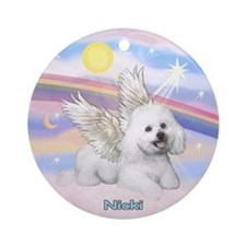 Angel Nicki in Clouds Ornament (Round)