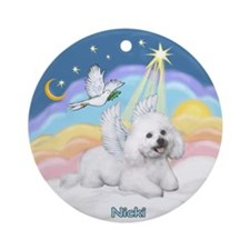 Angel Nicki in Pastel Clouds Ornament (Round)