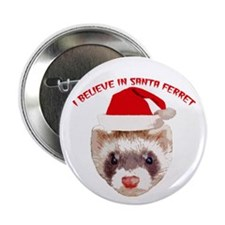 Santa Ferret Button