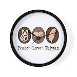 Peace Love Taiwan Wall Clock