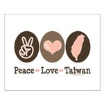 Peace Love Taiwan Small Poster