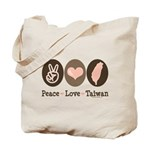 Peace Love Taiwan Tote Bag