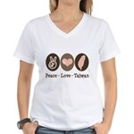 Peace Love Taiwan Women's V-Neck T-Shirt