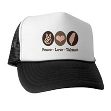 Peace Love Taiwan Trucker Hat