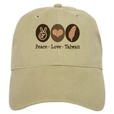 Peace Love Taiwan Baseball Cap