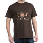 Peace Love Taiwan Dark T-Shirt