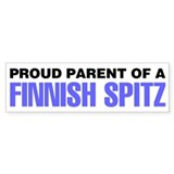 Proud Parent of a Finnish Spitz Car Sticker