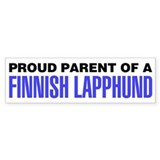 Proud Parent of a Finnish Lapphund Car Sticker