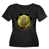 Army Black Logo Women's Plus Size Scoop Neck Dark